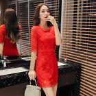 The new women's fashion lace dress women bottoming shirt female 5D6