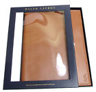 NWT $98 Polo Ralph Lauren Brown Burnished Leather Pony Logo iPad Media Box NEW