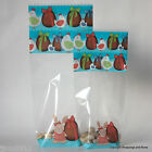 Easter Cellophane Bags Luxury Block Base  *Bunny & Eggs Blue* Choose Size/ Qty