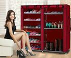 Double Shoe Boot Closet Rack Shelf Storage Organizer Cabinet Portable- 9 Layer