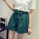 Summer Womens Ladies Casual belt High waist Loose Shorts Hotpants Plus UK 14-22