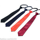 Satin Zipper Neck Tie 28cm For Wedding Prom Boys School Kids Children Tuxedo New