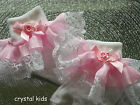 Infant Girls White Pink Organza Lacy Frilly Socks Various Sizes