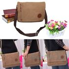 Men's Vintage Canvas Schoolbag Satchel Shoulder Messenger Bag Laptop Bag