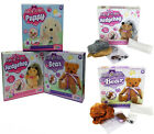 MAKE YOUR OWN PLUSH TEDDY BEAR PUPPY DOG OR HEDGEHOG COMPLETE SOFT TOY CRAFT KIT