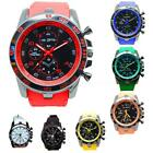 Mens Watch Large Dial Sport Fashion Analog Quartz Wrist Watch Rubber Band PHNG