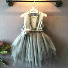Newborn Infant Baby Girl Kids Toddler Party Dress Pageant Wedding Tulle Tutu Top