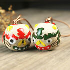 Lovely Tiger Head Bell Chinese Traditionnal Crafts Cute Handmade ceramic pendant