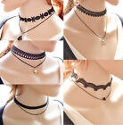 CHIC Fashion New Charm Sexy Black Leather Choker Necklace Jewelry Pendant Simple