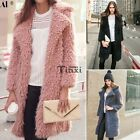 Autumn Winter Warm Women Wool Overcoat Long Parka Parka Outwear Jacket Cardigan