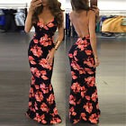 Fashion Women Floral Summer Party Maxi Sleeveless Bohemian Casual Long Dress A