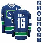 2015 16 VANCOUVER CANUCKS REEBOK NHL PREMIER 3RD BLUE JERSEY COLLECTION MENS