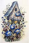 Birdhouse Blue Morning Glory Flower Select-A-Size Waterslide Ceramic Decals Xx image
