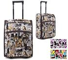 NEW LADIES SUITCASE HOLDALL TROLLEY CELEB MAGAZINE WEEKEND LUGGAGE HOLIDAY TRAVE