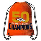 DENVER  BRONCOS SUPERBOWL 50 CHAMPIONS DRAWSTRING BACKPACKS