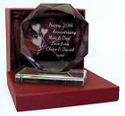 Engraved 20th China Wedding Anniversary Presentation Cut Glass Gift