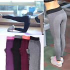 WOMEN FITNESS BREATHABLE GYM WEAR YOGA CAPRIS PANTS TROUSERS NEW GIFT