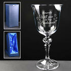 Personalised Will you be my Bridesmaid? 7oz Bohemia Crystal Wine Glass Engraved