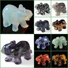 Carved gemstone Elephant figurine statue stone carving Pick Size & Stones