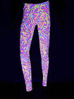 "Schwarzlicht Neon Leggings ""Candy Splash"" Goa Blacklight"