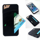 Soft TPU Leather Credit Card Holder Wallet Case Cover For iPhone 5 6 6S  7 Plus