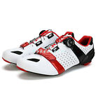 New Men's Cycling Carbon Fiber Soles Shoes Breathable Road Bicycle Bike Shoes 2W