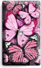 PINK BUTTERFLIES THEME LIGHT SWITCH OUTLET WALL PLATE BEDROOM ROOM HOME NY DECOR