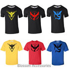 K195 Pokemon Go Team Valor Mystic Instinct Pokeball Top Tee Shirt Short Sleeves