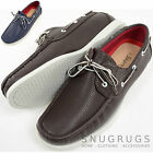 Mens 100% Leather Smart / Casual / Summer Lace Up Boat / Deck Shoes / Loafers