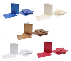 Blank C6 A6 Pearlescent Greetings Cards & Envelopes Pack 20, 5 Colours Craft UK