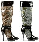Patent Snake Skin High Heel Platform Tall Knee Boot Anne Michelle Chaos-03