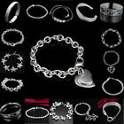 Wholesale Fashion Women 925 Solid Sterling Silver Bracelet Bangle Jewelry,Gift A