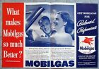 1939 Mobil Gas Ad What makes Mobilgas so much better Balanced Performance