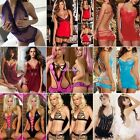 Underwear Babydoll Lingerie Lace Dress Sleepwear Nightwear 12 Types Sexy N4U8