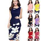 2016 Women's Dress Elegant Vintage Bodycon Sheath Pencil Midi Dress Party NEW