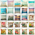 Beach Peacock flowers Pillow Cases Cotton Linen  Sofa Cushion Cover Pillow Cover