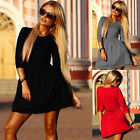 Summer Sexy Women Party Evening Cocktail Dress Casual Long Sleeve Mini Dress New