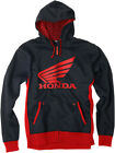 Factory Effex Licensed Honda Limit Zip-Up Hoodie Black/Red Mens All Sizes