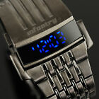 INFANTRY Mens LED Digital Wrist Watch Sport Army Stainless Steel Night Vision