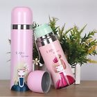 Cute Cartoon Girl Stainless Steel Thermos Insulated Vacuum Water Cup Travel Mug