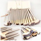 10/12/18/24Pcs Fashion Champagne Gold Beauty Cosmetic Makeup Brushes Set Kit