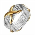 Vintage Seperation Gold X Band Silver Plated Jewelry for Women Gifts