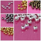 Freeshipping Metal Round Spacer Beads Silver Gold Black Bronze 2/3/4/5/6mm