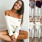 Sexy Womens Off Shoulder Summer Loose Casual Cotton T-Shirt Blouse Tops TXCL