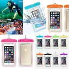Luminous Glow Waterproof Underwater Pouch Bag Pack Dry Case Cover For ihone XR X