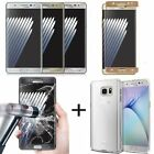 Tempered Glass Curved Full Cover Screen For Samsung Galaxy Note 7 S7 &Clear Case