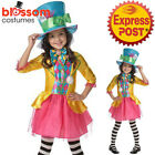 CK811 Mad Hatter Girls Alice in Wonderland Book Week Teen Tween Costume + Hat