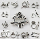Wholesale Jewelry Findings Tibet Silver Multiple Shapes Toggle Clasps Connectors