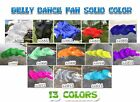 100 Real Silk Belly Dance Fan Veil Solid Color Left Right Hand 15M 18M