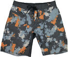 Billabong Garage Collection Big Pocket Boardshorts Grey/Orange/Blue